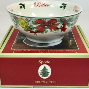 Spode Christmas Tree Annual Revere Bowl Peace NIB
